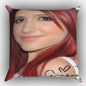 Ariana Grande Style  X0249 Zippered Pillows  Covers 16x16, 18x18, 20x20 Inches