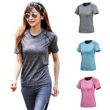 Style201 Women Breathable Round-Neck Short Sleeve Workout Tops 0896-78