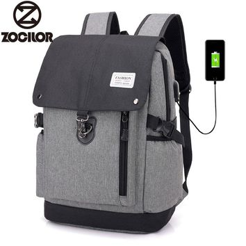 2018 Fashion casual USB Charge Anti Theft Backpack for Men 15 inch Laptop Mens Backpacks School Bag Bagpack