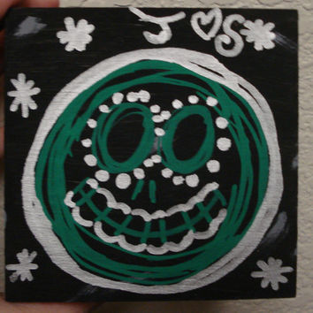 Jack Skellington inspired Sugar skull Painted box -Christmas gifts for women -Christmas -Holiday -Anniversary gift -Jack Skellington fan art