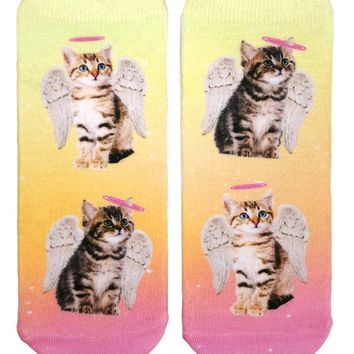 Angel Kittens Ankle Socks