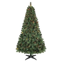 6' prelit Alberta Spruce Christmas Tree - Multi lights