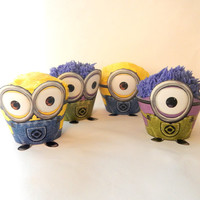 Instant Download - Despicable Me Minion Cupcake Wrapper Party Decoration Set Dispicable