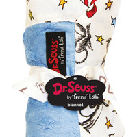 Receiving Blanket - Framed Dr. Seuss Cat In The Hat Blue