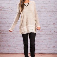 Into The Night Tunic, Almond