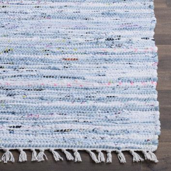Safavieh Rag Rug RAR125A Light Blue / Multi Rug