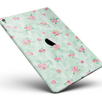 "Shabby Chic Watercolor Holly Pattern V2 Full Body Skin for the iPad Pro (12.9"" or 9.7"" available)"