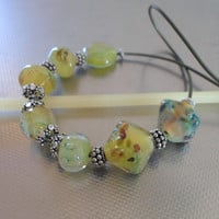 Lampwork Necklace, Spring Fashion Handmade Jewelry, Handmade Lampwork Jewelry, Glass and Sterling Silver, Mother's Day Gift