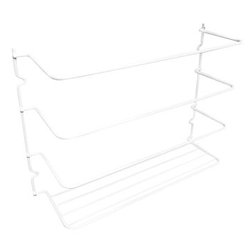 Evelots Wrap Organizer Rack-Kitchen Cabinet Door-Wall-New & Improved- Set/2