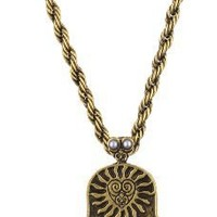 "Beyond Rings ""Enchanted"" Hamsa Hand Pendant Necklace"