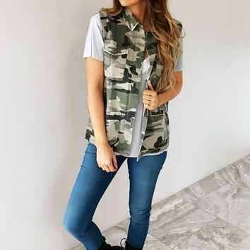 Away From The City Vest: Camo