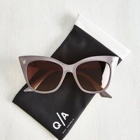 Modern Love Sunglasses in Taupe by Quay from ModCloth