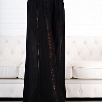 Dancing Under The Moon Boho Pants (Black)