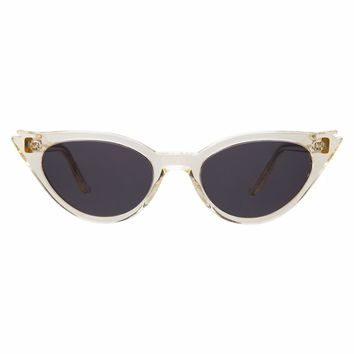 Illesteva - Isabella 52mm Champagne Sunglasses / Grey Flat Lenses