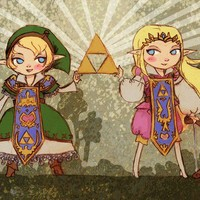 Prince Zelda and Lady Link