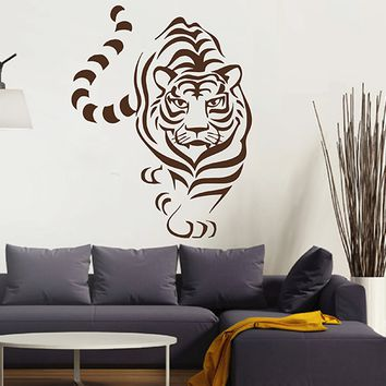 ik2883 Wall Decal Sticker Indian tiger living room bedroom children