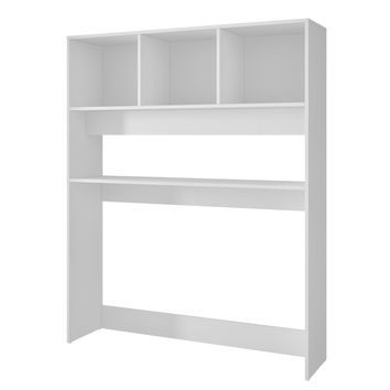 Aosta Display Desk with 4 Shelves in White