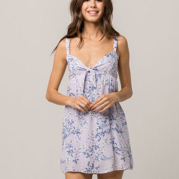 SOCIALITE Floral Knot Front Dress