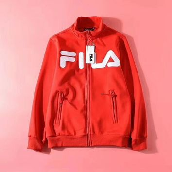 FILA Woman Men Fashion Cashmere Cardigan Jacket Coat-1