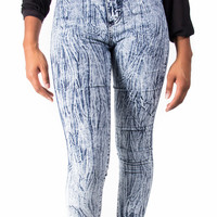 High Waist Acid Wash Perfect Fit Skinny Jeans