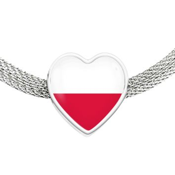 Polish Pride - Luxury Heart Charm Bracelet