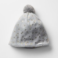 Gap Girls Pro Fleece Printed Pom Pom Beanie