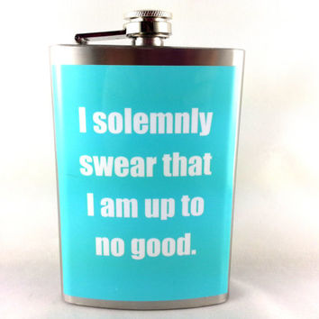 Solemnly Swear Flask Harry Potter Flask Gift Wrapped with FREE Funnel