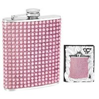 Pink Crystal Flask in Gift Box w/ Funnel