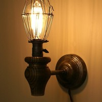 Vintage Inspired Industrial Wall Sconce by JesseLeeDesigns on Etsy