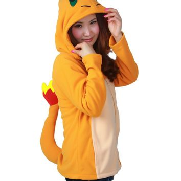 PP New Adult Animal  Charmander Hoodie  Go Ash Ketchum Trainer CostumeKawaii Pokemon go  AT_89_9