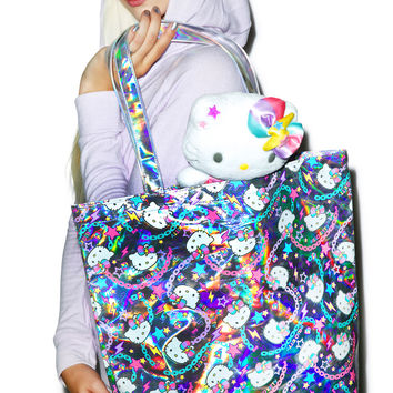 Sanrio Pastel Pop Hello Kitty Shoulder Tote Bag Multi One