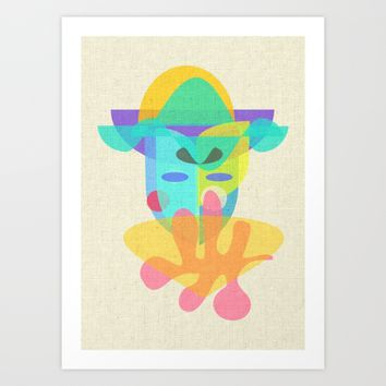 The Mask Art Print by Mirimo | Society6