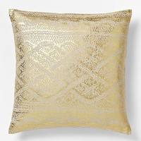 Metallic Texture Pillow Cover - Gold