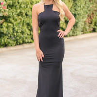 Backless Gown - Black