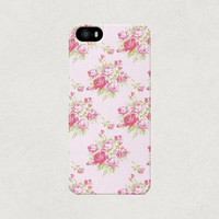 Pink Floral Polka Dot iPhone 4 4s 5 5s 5c Case