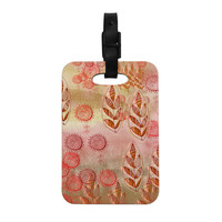 "Marianna Tankelevich ""Summer Music"" Red Orange Decorative Luggage Tag"