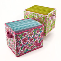 Lilly Pulitzer Organizational Bin - Medium - See Jane Work