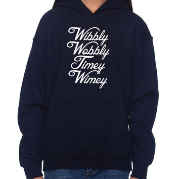 """Doctor Who """"Wibbly Wobbly"""" Hoodie (SM-XL)"""