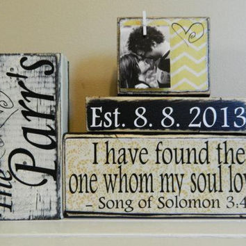 I have Found the One Whom My Soul Loves Sign, Song of Solomon 3:4, Rustic Wedding Signs, Bible Verse Sign, unique wedding gift for couple