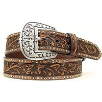 Ariat Women's Embossed Inlay Nailhead Pattern Belt