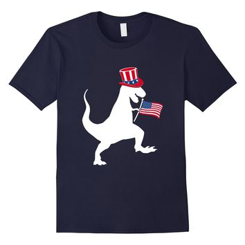 Boys President Day T Shirt for Dinosaur Lover USA Flag Hat