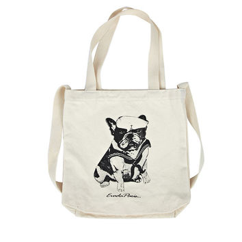 Korean Casual Canvas Bags Strong Character Tote Bag [8269846279]
