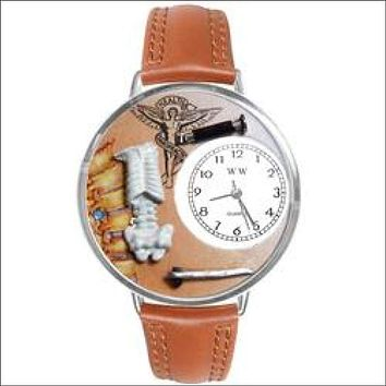Chiropractor Watch in Silver (Large)