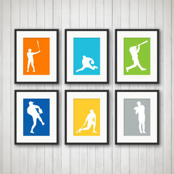 Baseball Decor - Sports Decor, Baseball Print, Teen Room, Nursery Decor, Children's Room, Playroom Decor, Sports Nursery, Kids Room Decor