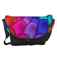 Psychedelic Rainbow Spiral Messenger Bag