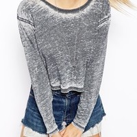 ASOS Burnout Crop Top