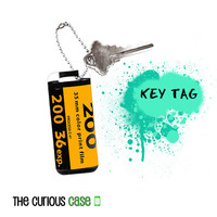 Key Chain Purse Tag  - Metal Hang Tag Camera Film Cainster Retro Vintage Style