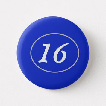 Plain Royal Blue 16 Button