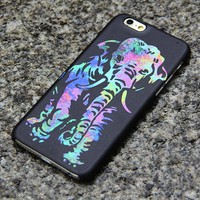 Elephant iPhone XS Max 6s case iPhone XS Max plus iPhone 8  Case Samsung Galaxy S8 S6  Note 3 Case Turquoise and Purple 011
