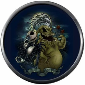 Nightmare Before Christmas Jack Skellington And Oogie Boogie Man 18MM - 20MM Charm for Snap Jewelry New Item